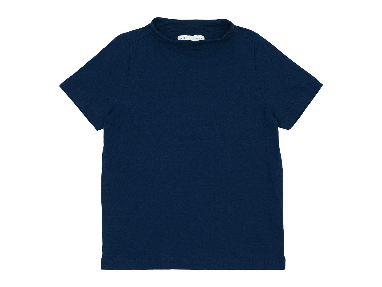 nisica ガンジーネックカットソー 半袖 BLUE