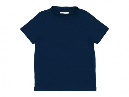 nisica ガンジーネックカットソー 半袖 BLUE 【NIS-853】
