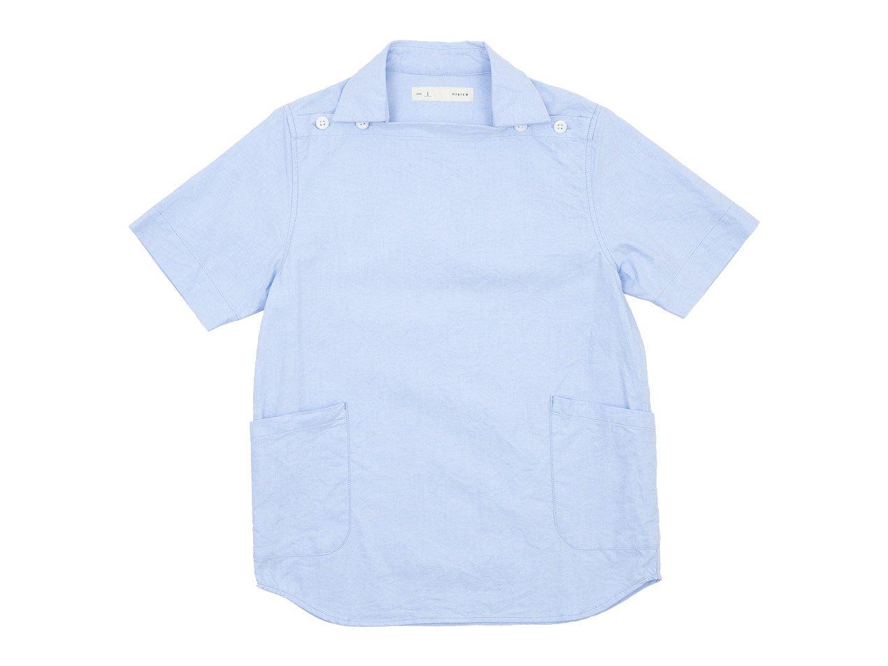 nisica デッキマンシャツ 半袖 オックス SAX