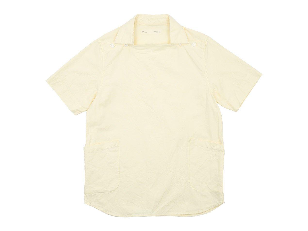 nisica デッキマンシャツ 半袖 オックス YELLOW