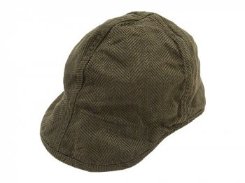 TATAMIZE WORK CAP OLIVE LINEN HB