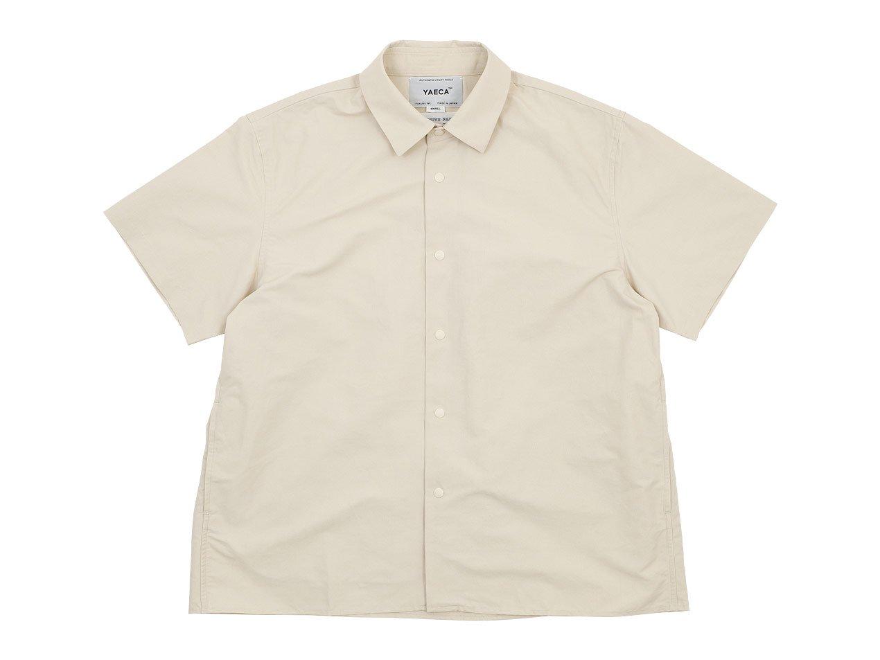 YAECA コンフォートシャツ 半袖 BEIGE 〔レディース〕