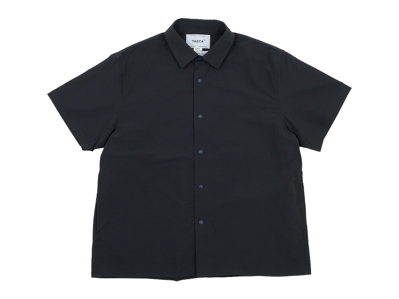 YAECA コンフォートシャツ 半袖 DARK NAVY 〔レディース〕 【69140】