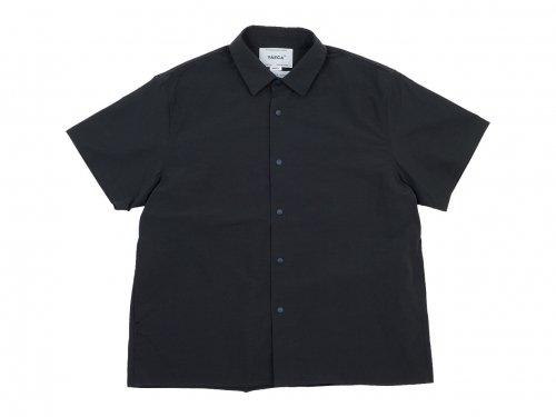 YAECA コンフォートシャツ 半袖 DARK NAVY 〔レディース〕