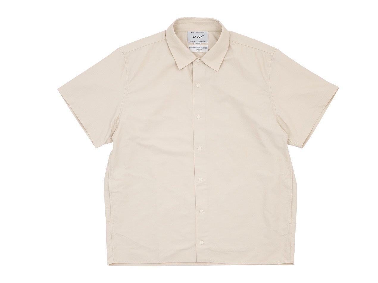 YAECA コンフォートシャツ 半袖 BEIGE 〔メンズ〕
