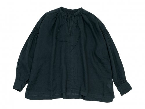 ordinary fits FLORIST BLOUSE LINEN BLACK