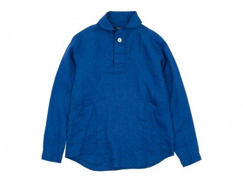 LOLO フレンチリネン プルオーバーシャツ BLUE