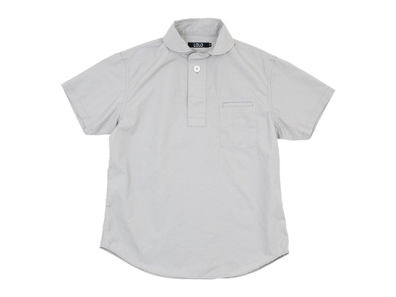 LOLO コットン半袖 プルオーバーシャツ LIGHT GRAY