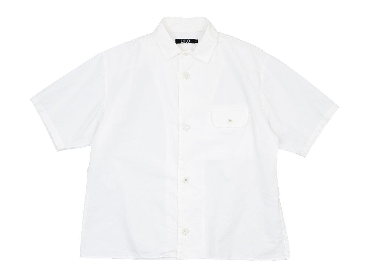 LOLO ステッチなし半袖シャツ OFF WHITE