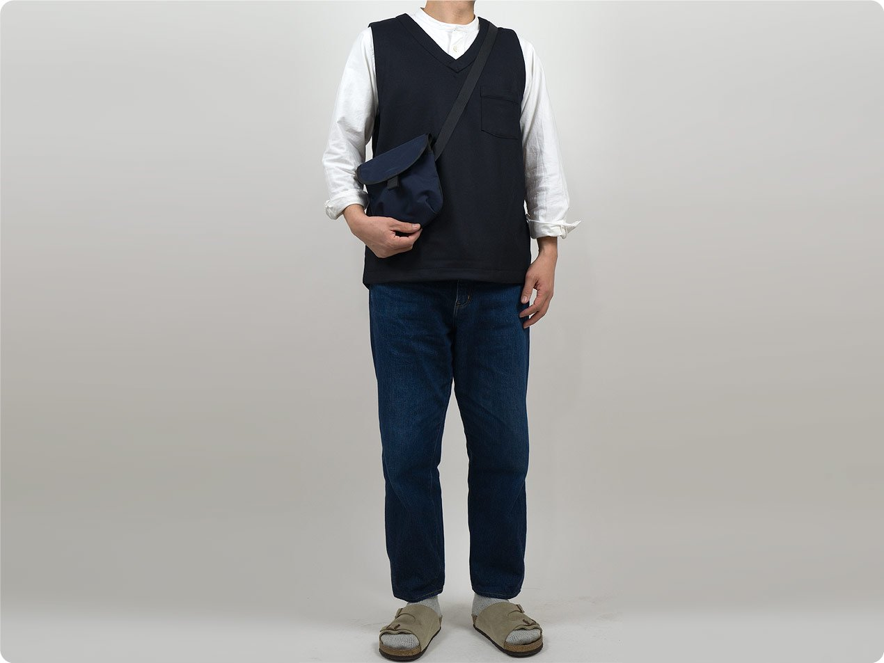 maillot mature wool labo vest NAVY