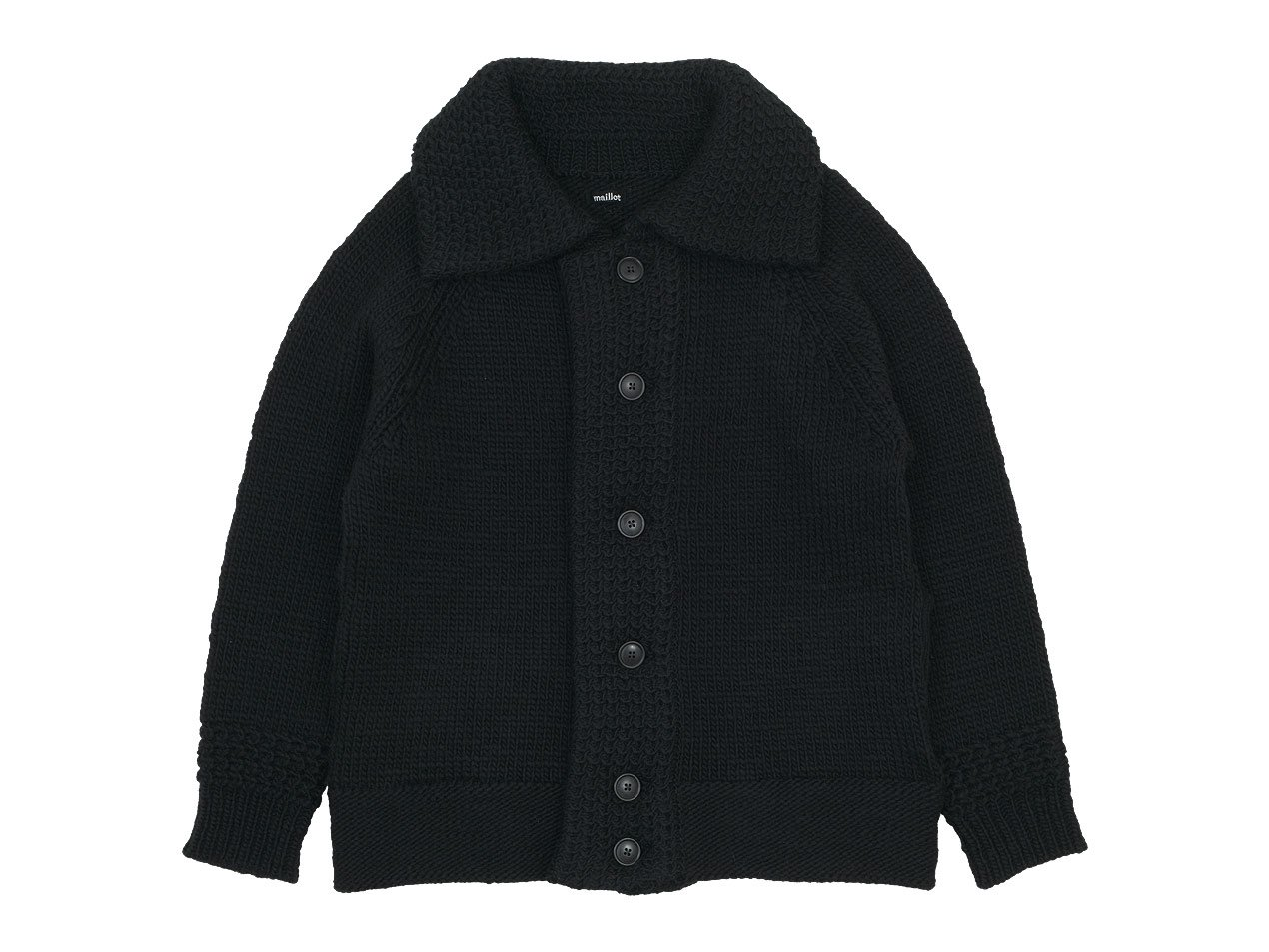 maillot mature hand frame fisherman jacket BLACK