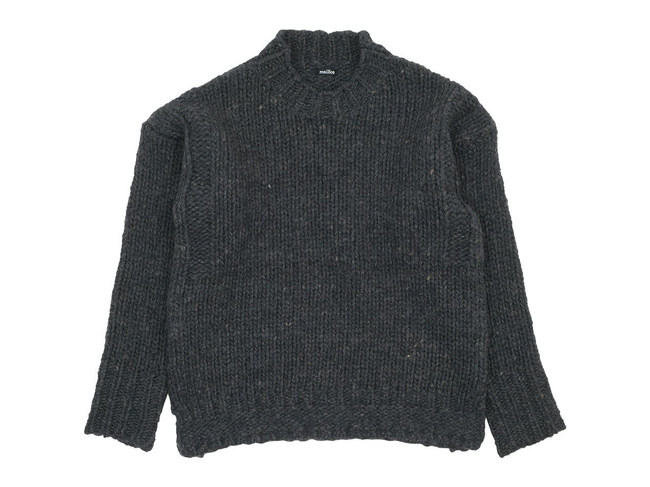 maillot mature hand frame fisherman sweater CHARCOAL