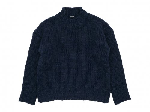 maillot mature hand frame fisherman sweater NAVY