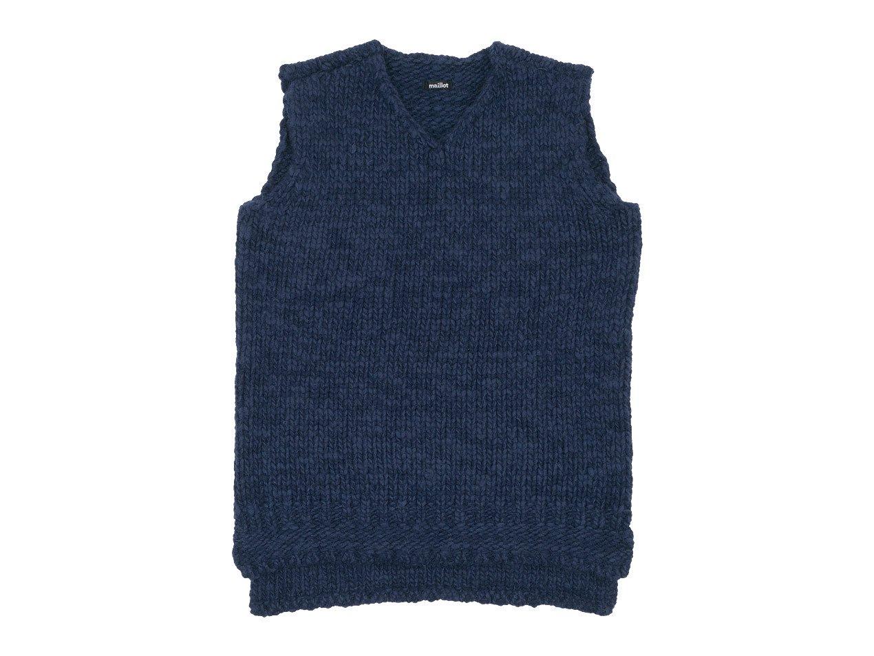 maillot mature hand frame vest NAVY