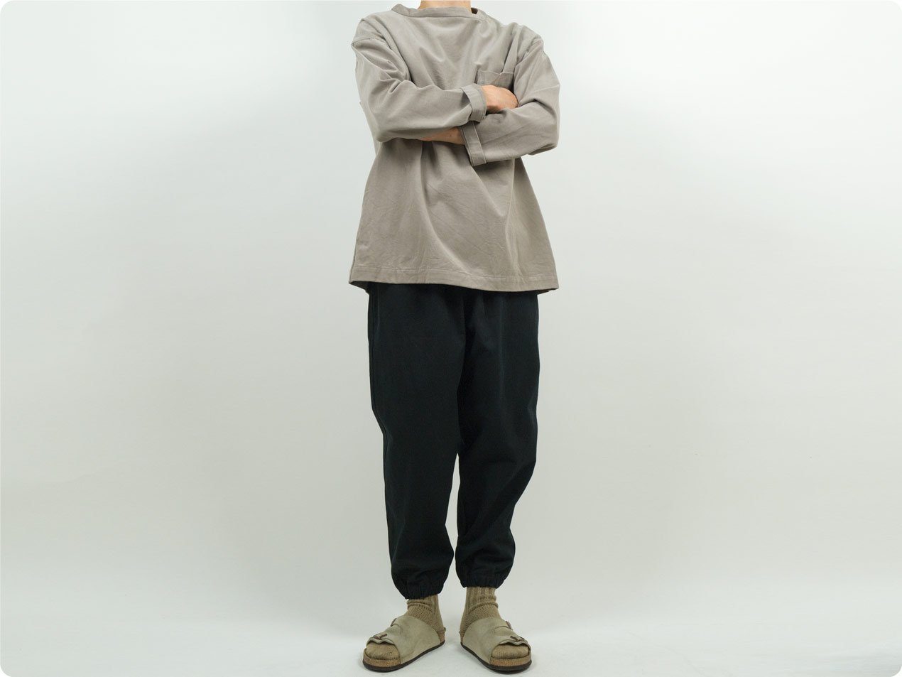 TUKI gum pants 09BLACK