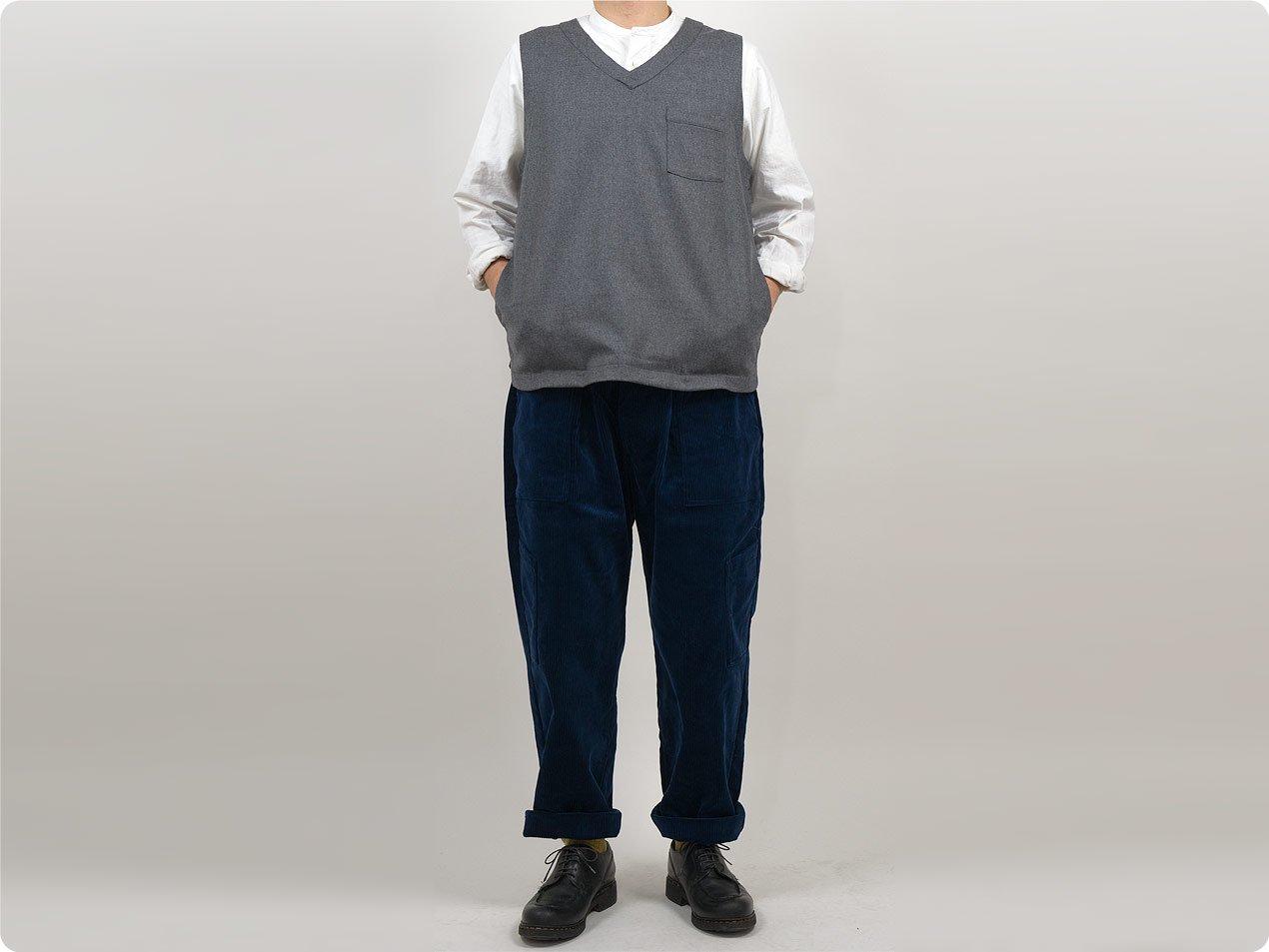 TUKI combat pants corduroy 98INK BLUE