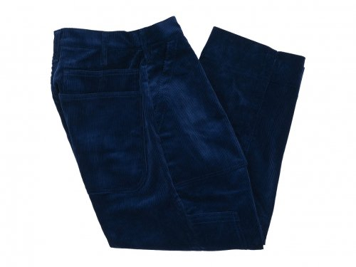TUKI combat pants corduroy 98INK BLUE