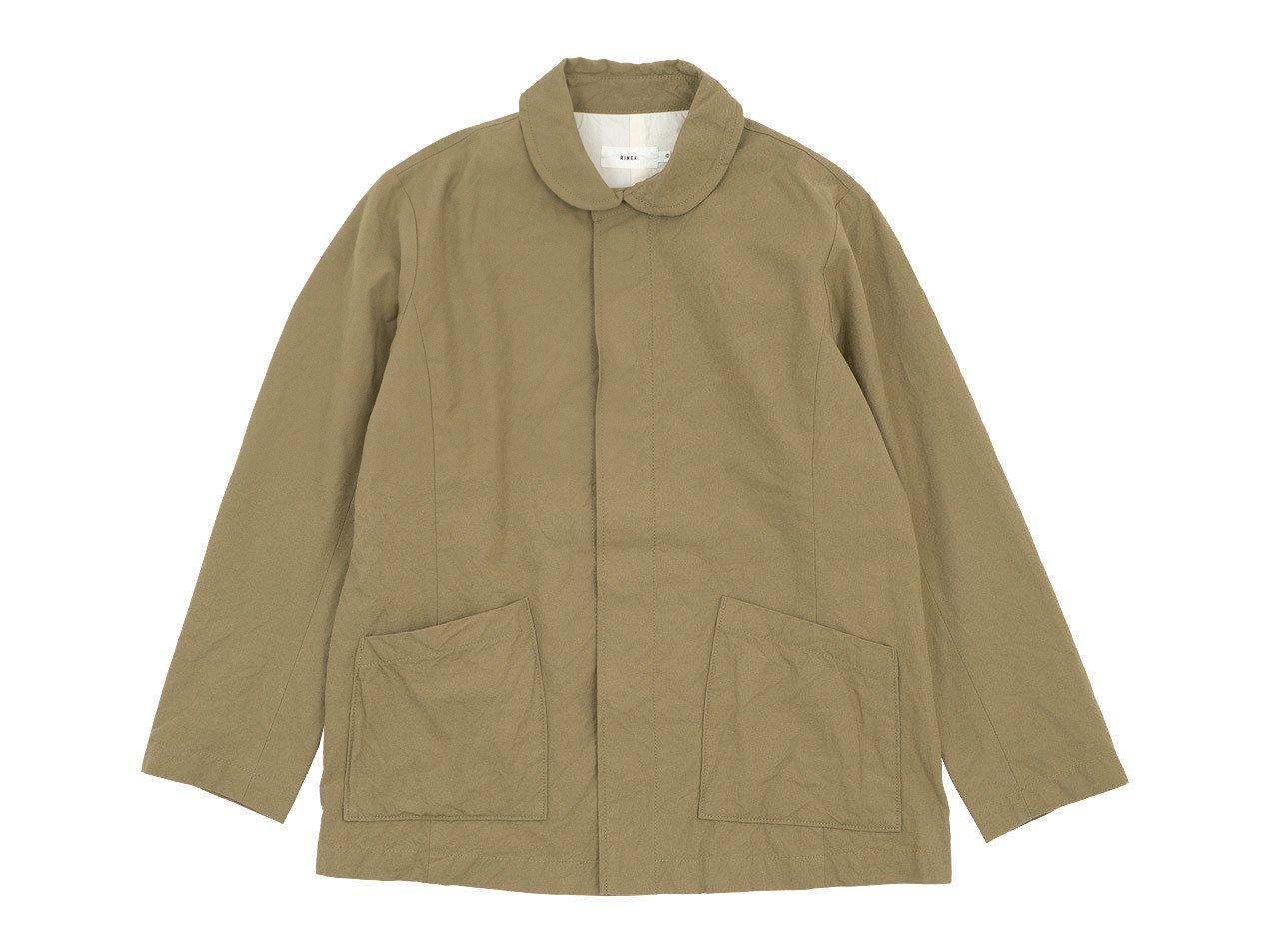RINEN 40/2高密度平織 ガーデンジャケット 06ベージュ 〔レディース〕