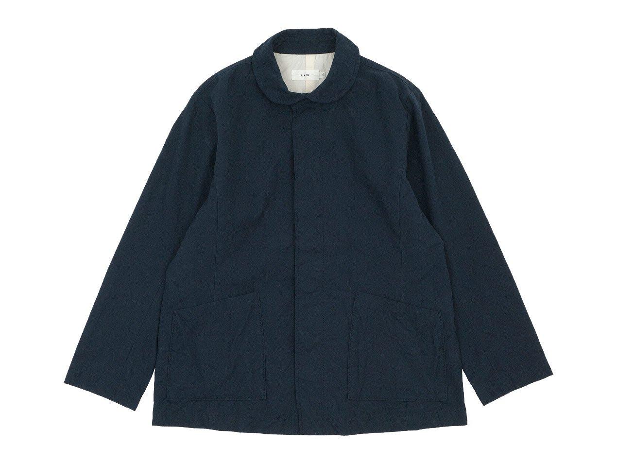 RINEN 40/2高密度平織 ガーデンジャケット 05ネイビー 〔レディース〕