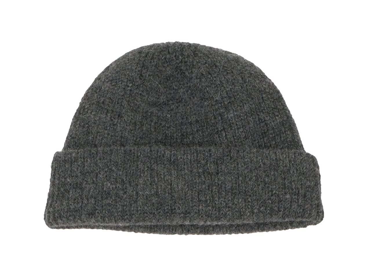 RINEN 2/21ウールアゼ編み ニット帽 03グレー