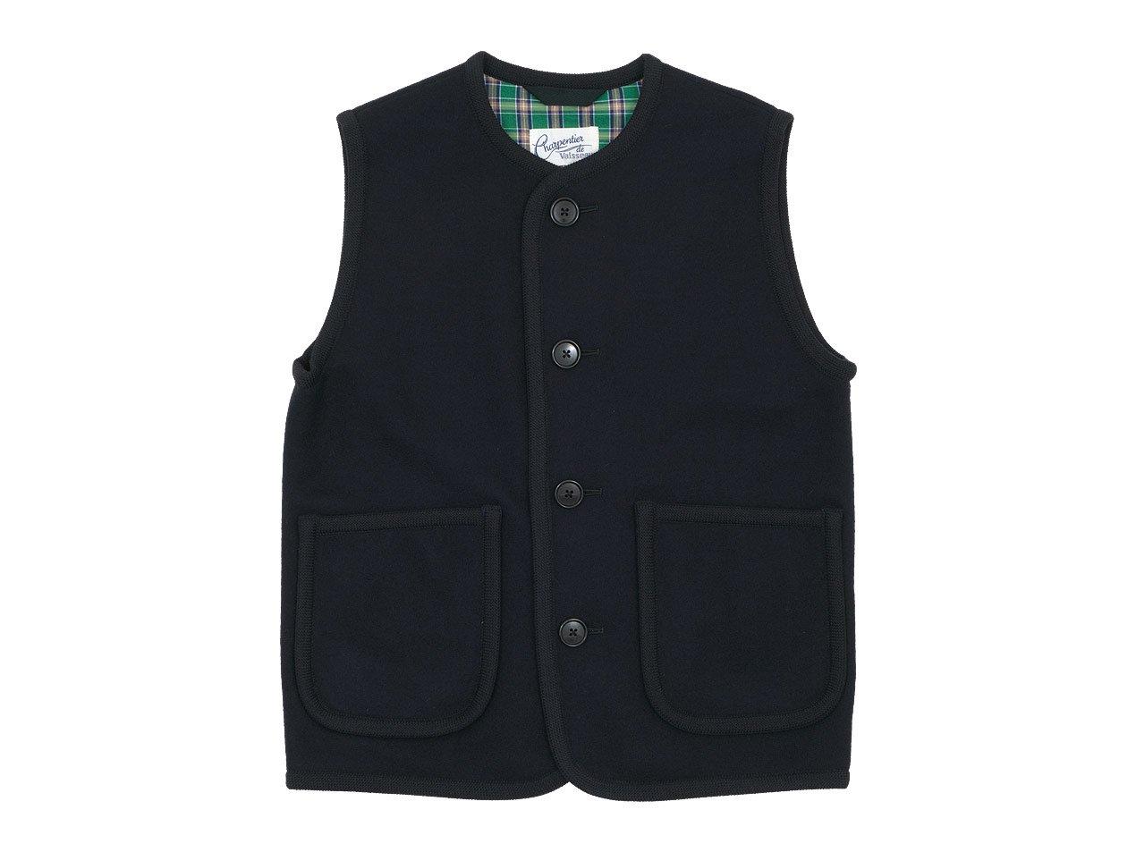 Charpentier de Vaisseau Tito Button Wool Vest NAVY