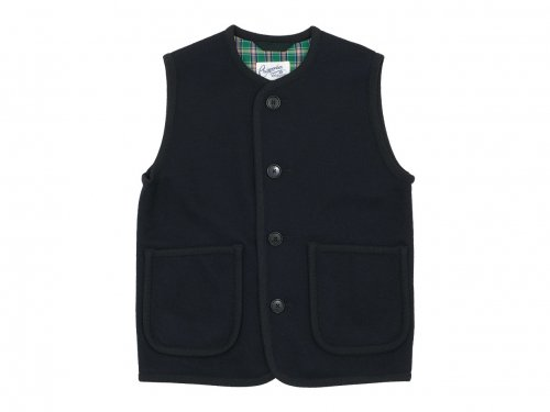 Charpentier de Vaisseau Tito Button Wool Vest NAVY