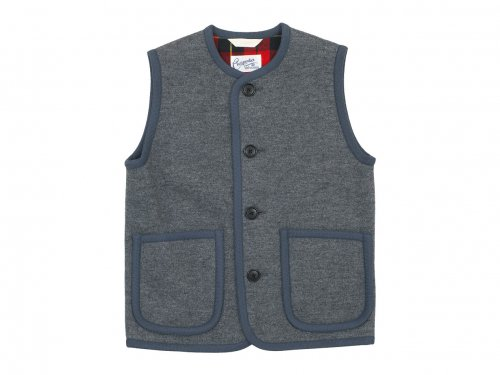 Charpentier de Vaisseau Tito Button Wool Vest GRAY