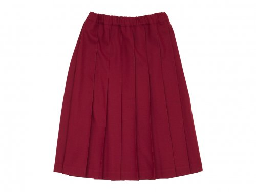 Charpentier de Vaisseau Belle プリーツスカート Wool RED