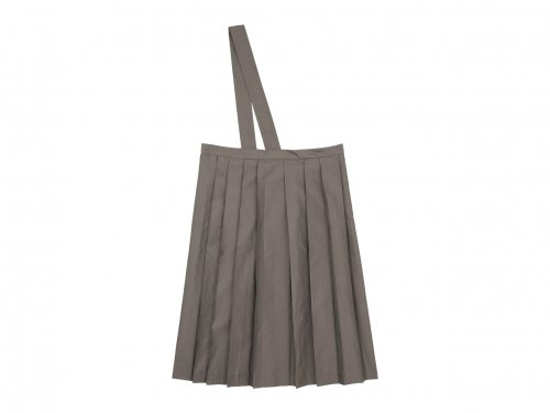 TOUJOURS One Shoulder Random Pleated Skirt OLIVE MOCHA 【TM31EK04】
