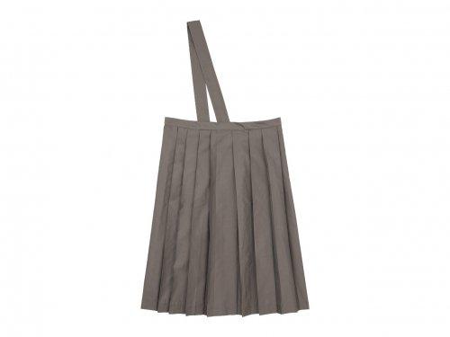TOUJOURS One Shoulder Random Pleated Skirt OLIVE MOCHA 【TM31EK04】