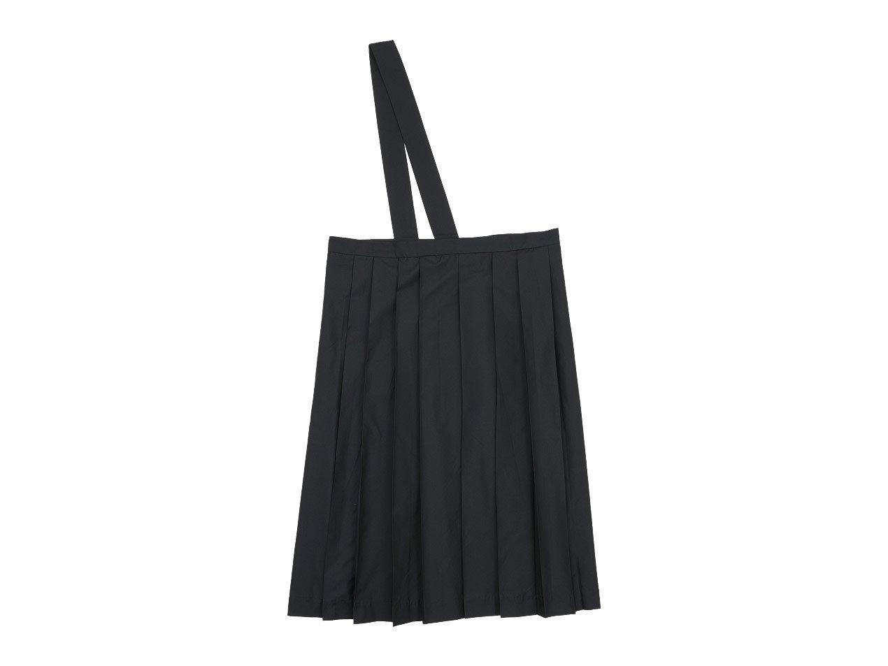 TOUJOURS One Shoulder Random Pleated Skirt NAVY BLACK 【TM31EK04】