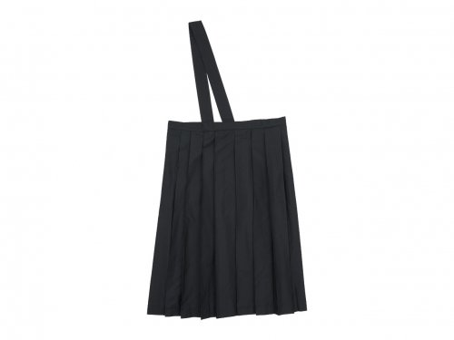 TOUJOURS One Shoulder Random Pleated Skirt NAVY BLACK 【TM31EK04】