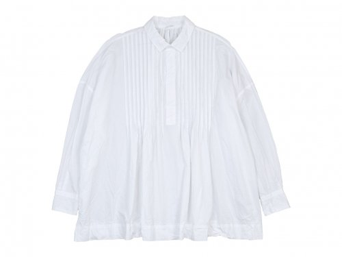 TOUJOURS Back Gathered Pin Tuck Shirt WHITE【MM31FS03】