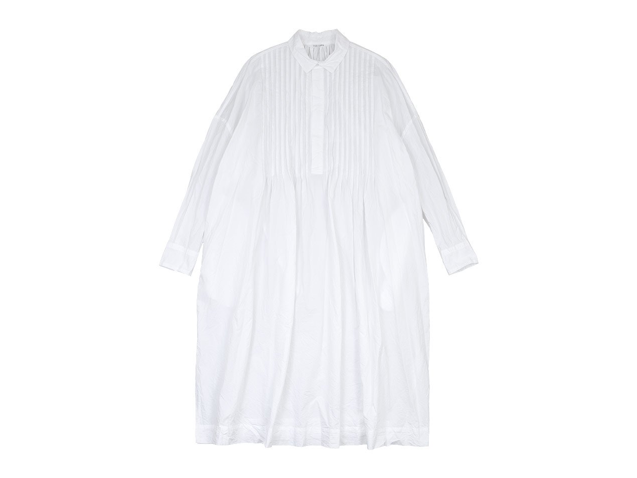 TOUJOURS Back Gathered Pin Tuck Shirt Dress WHITE【MM31FD04】