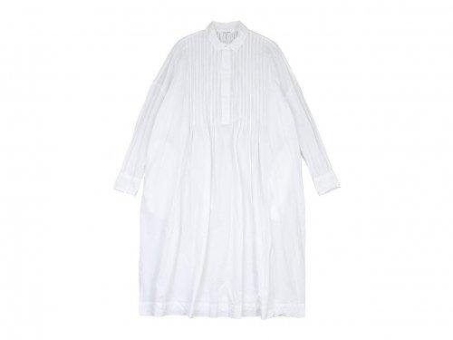 TOUJOURS Back Gathered Pin Tuck Shirt Dress