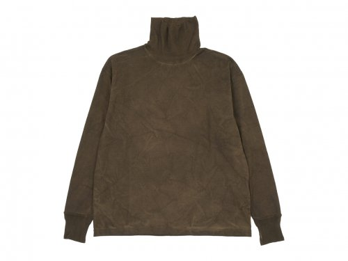 TOUJOURS Turtle Neck Pullover MUD DYE 【LM31XC10】