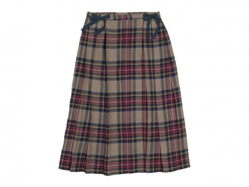 TOUJOURS Kilt Pleated Long Skirt