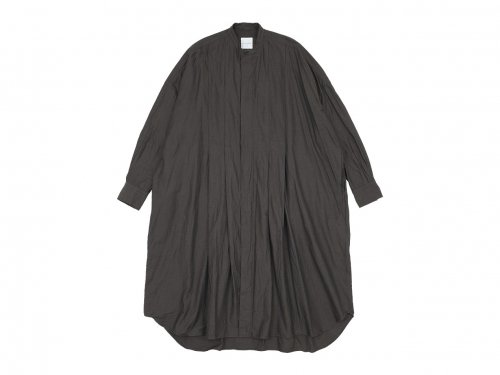 TOUJOURS Wide Tuck Shirt Dress OLIVE BROWN【KM31KD02】