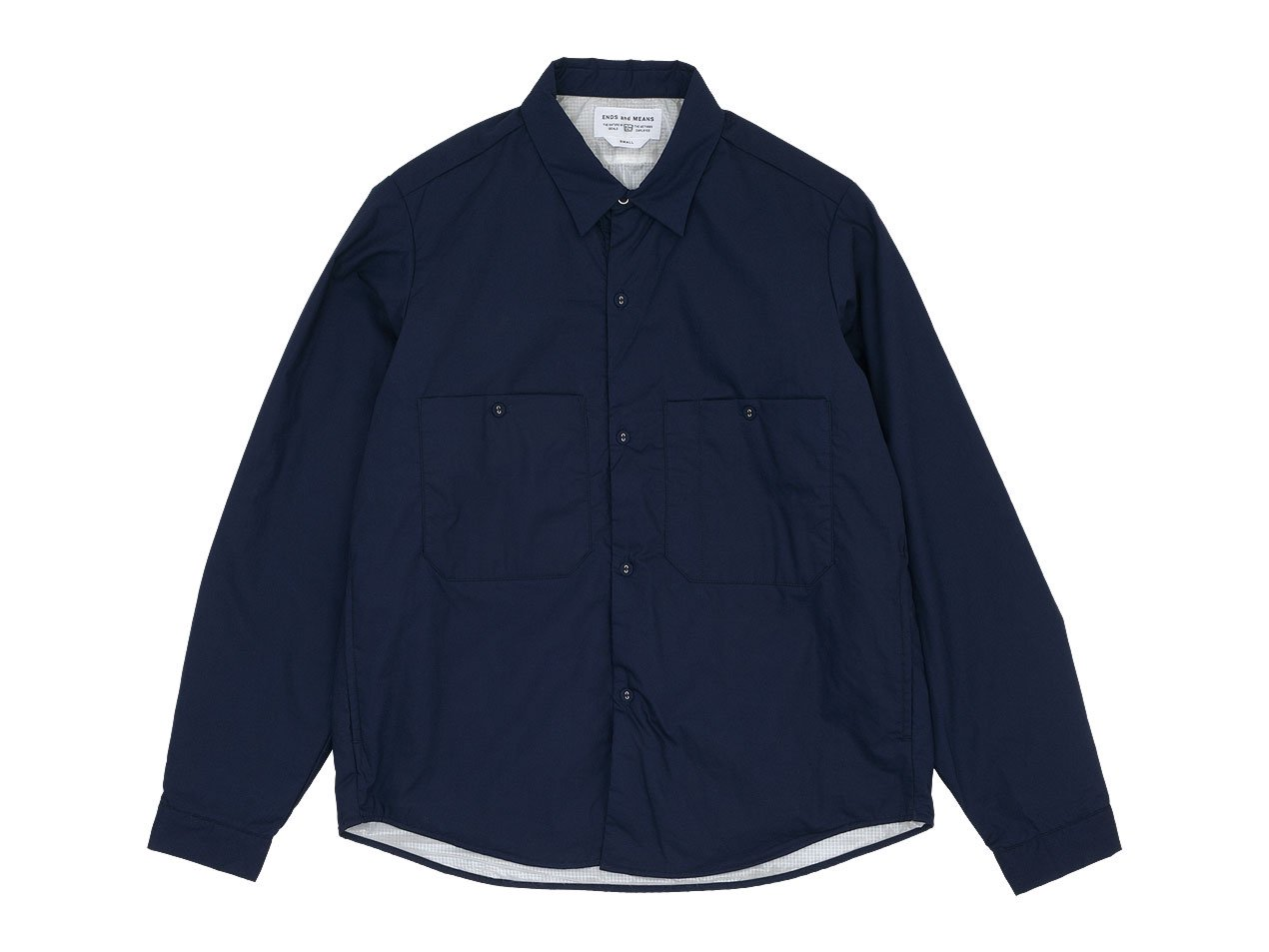 ENDS and MEANS Puff Shirts Jacket NAVY