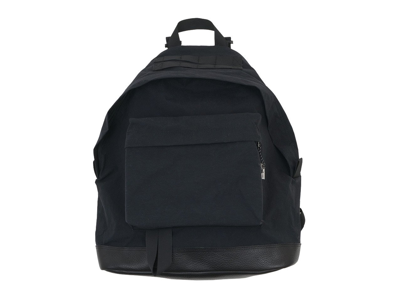 ENDS and MEANS Daytrip Backpack Leather Bottom BLACK