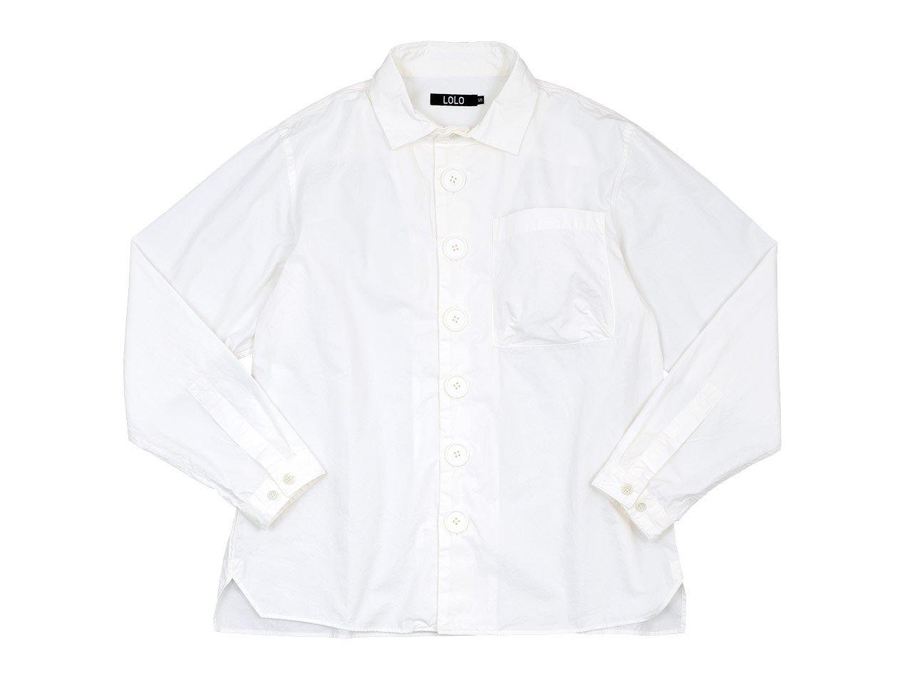 LOLO デカボタンシャツ WHITE