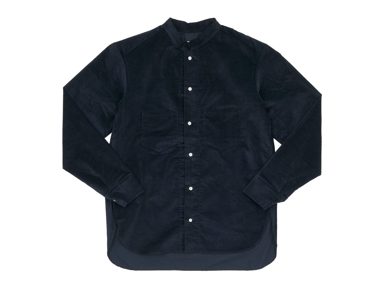 TATAMIZE STAND COLLAR SHIRTS NAVY