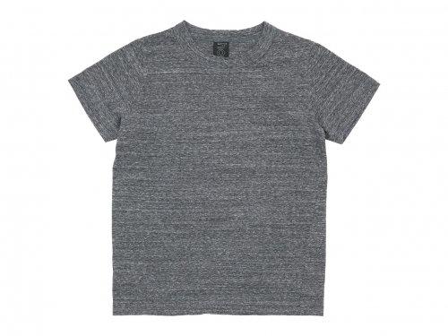 homspun 30/1天竺 半袖Tシャツ 粗挽杢チャコール