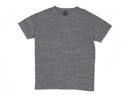 homspun 30/1天竺 半袖Tシャツ 粗挽杢チャコール 〔メンズ〕