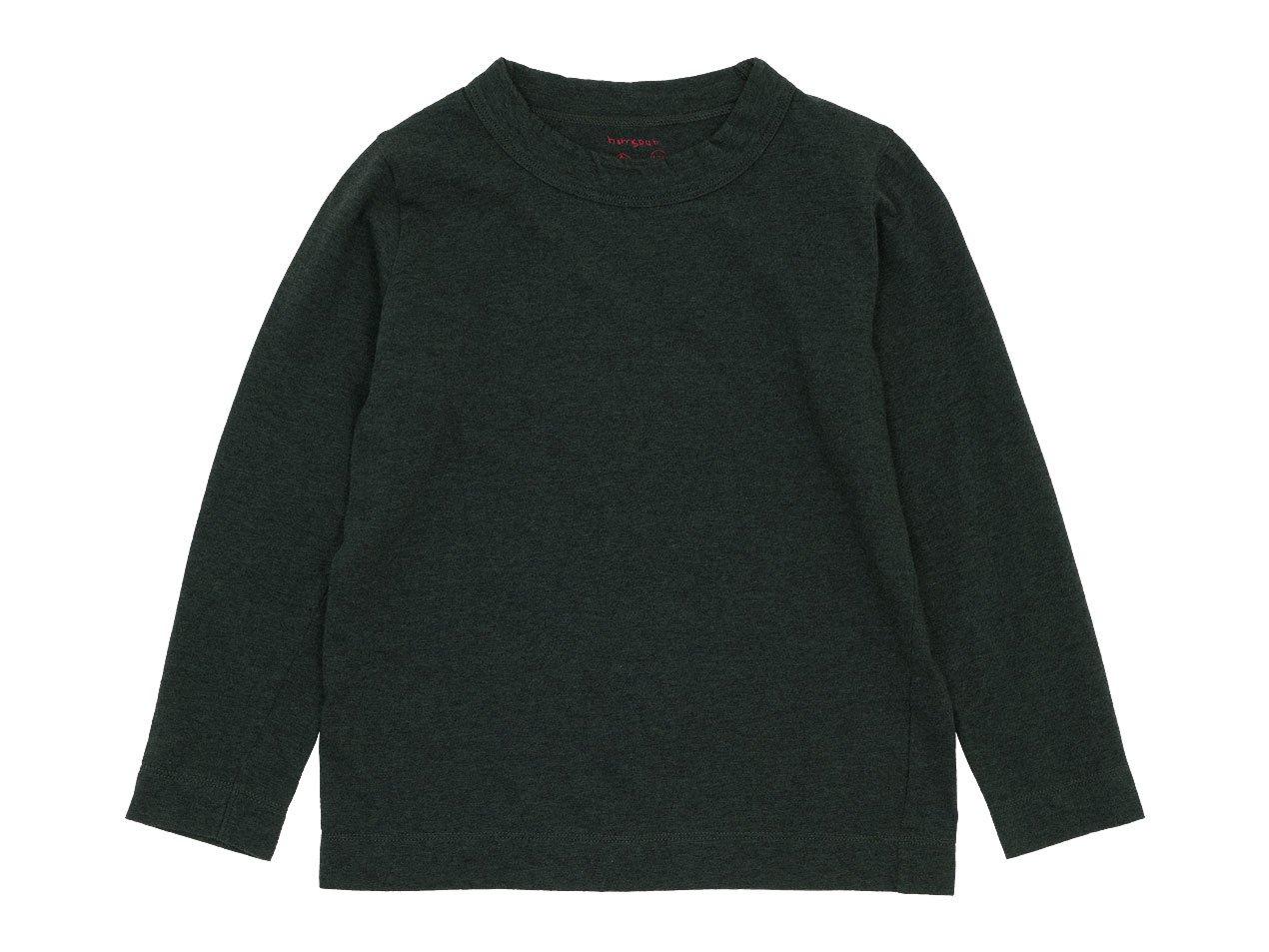 【Kid's】 homspun 30/1天竺 長袖Tシャツ TOPダークグリーン