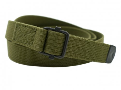 MHL. NARROW MILITARY BELT 180OLIVE