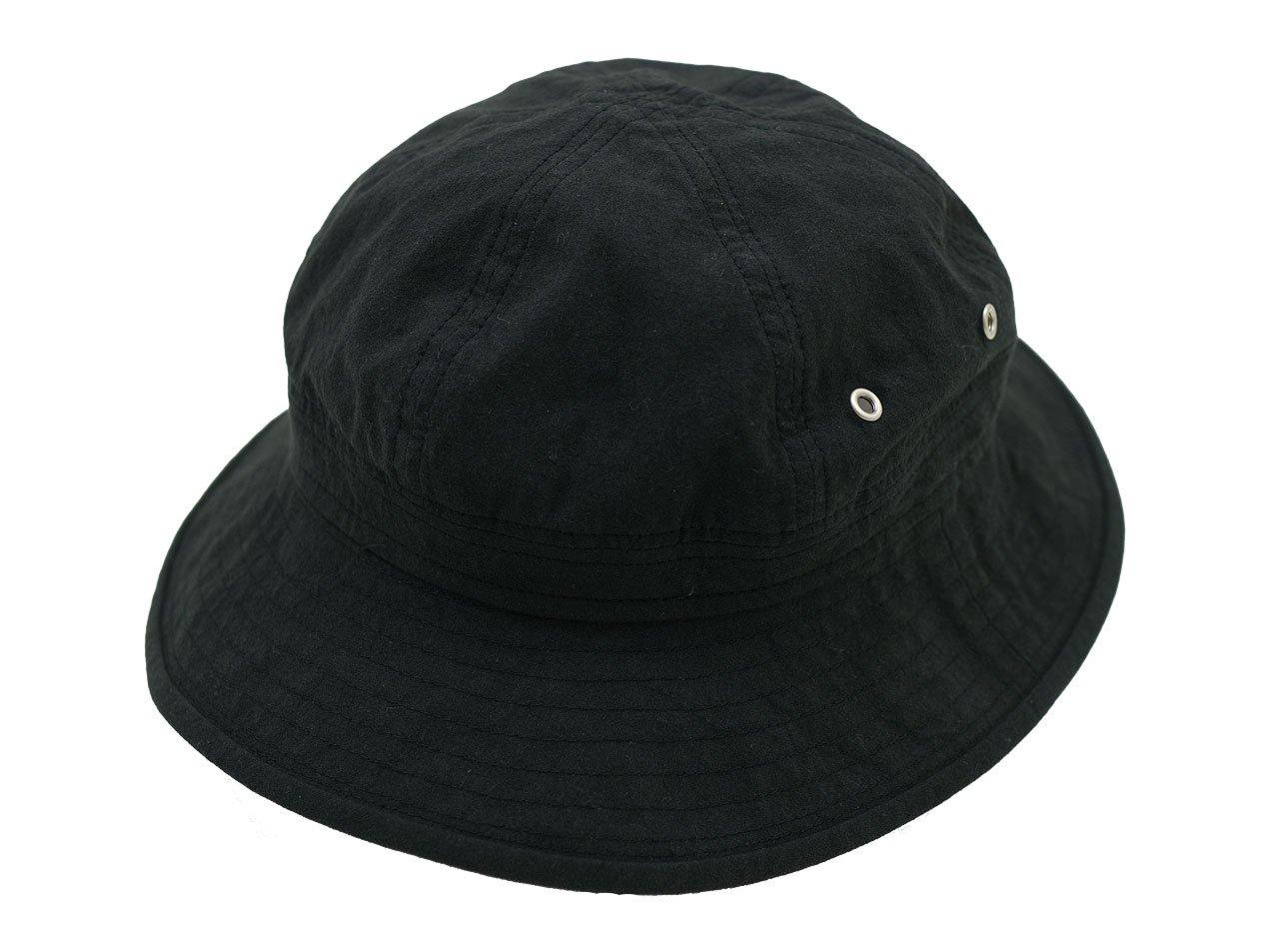 MHL. VINTAGE COTTON POPLIN HAT 010BLACK