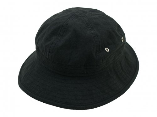 MHL. VINTAGE COTTON POPLIN HAT 010BLACK