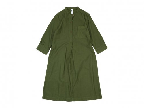 MHL. LIGHT MOLESKIN CHORE DRESS 180OLIVE 〔レディース〕