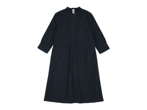 MHL. LIGHT MOLESKIN CHORE DRESS 010BLACK 〔レディース〕